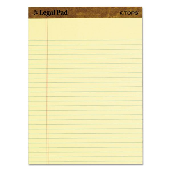 TOPS Letter-Size Yellow Legal Pads