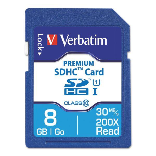 Verbatim Premium 8GB SDHC Memory Card