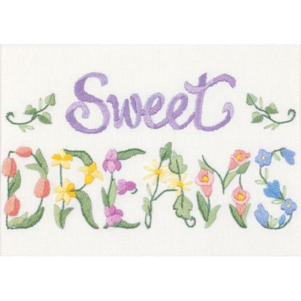 Flowery Sweet Dreams Mini Crewel Kit