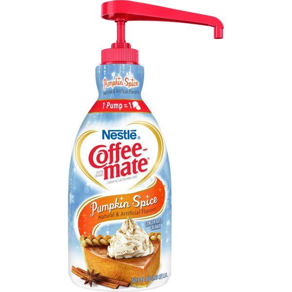Nestle Coffee-mate Coffee Creamer Pumpkin Spice - 1.5L liquid pump bottle