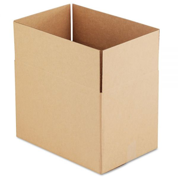 General Supply Brown Corrugated - Fixed-Depth Shipping Boxes, 18l x 12w x 12h, 25/Bundle