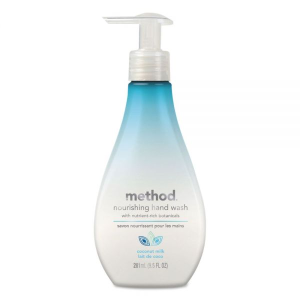 Method Nourishing Hand Wash, Coconut Milk, 9 1/2 oz Bottle, 6/Carton