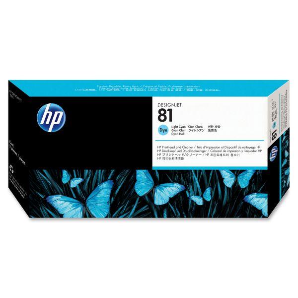 HP 81 Light Cyan Printhead & Cleaner (C4954A)
