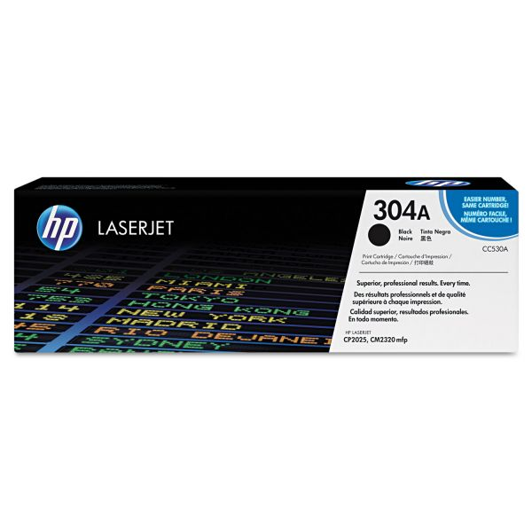 HP 304A, (CC530A) Black Original LaserJet Toner Cartridge