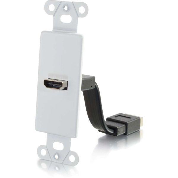 C2G HDMI Pass Through Decora Style Wall Plate - White