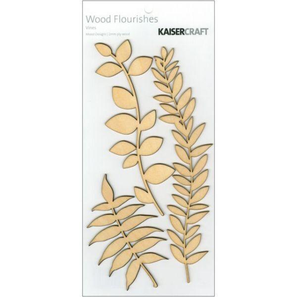 Wood Flourishes 3/Pkg
