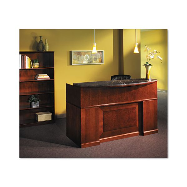 Tiffany Industries Sorrento Reception Desk Screen With Marble Counter, 72w x 38-1/2d x 15-1/2h