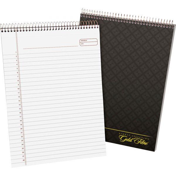 Ampad Gold Fibre Wirebound Writing Pad w/Cover, 8 1/2 x 11 3/4, White, Grey Cover