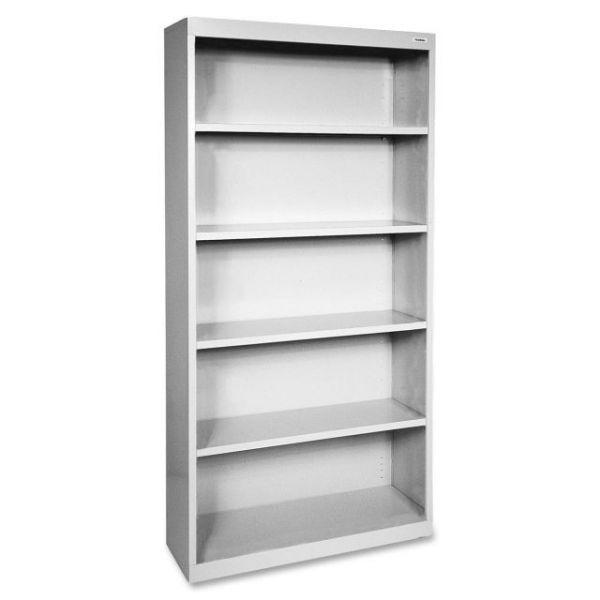 Lorell Fortress Series 5-Shelf Steel Bookcase