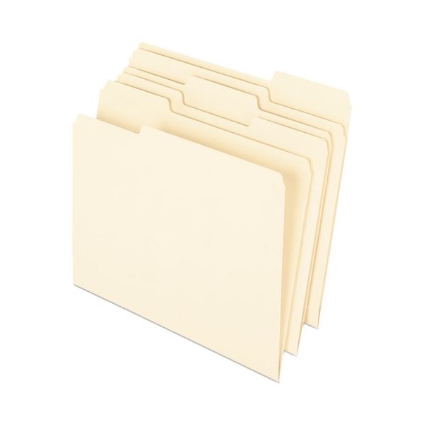 Pendaflex Earthwise by Pendaflex Recycled Paper File Folder, 1/3 Cut, Ltr, Manila, 100/BX