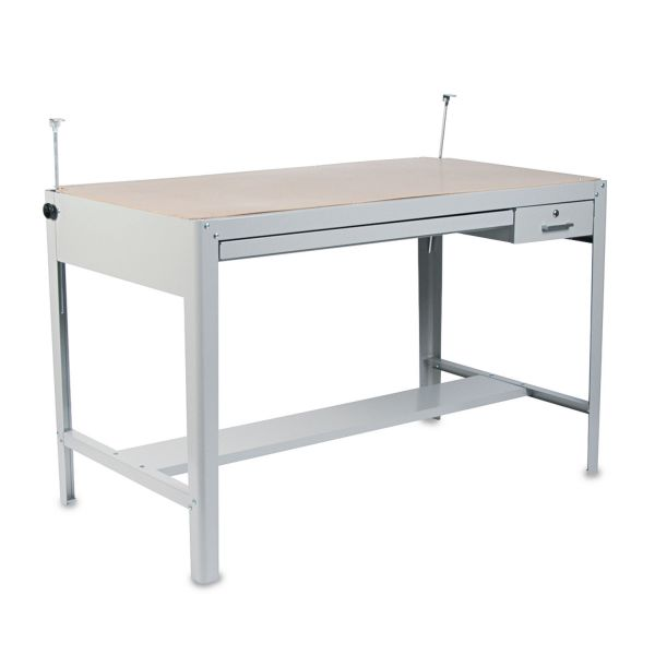 Safco Precision Four-Post Drafting Table Base, 56-1/2w x 30-1/2d x 35-1/2h, Gray