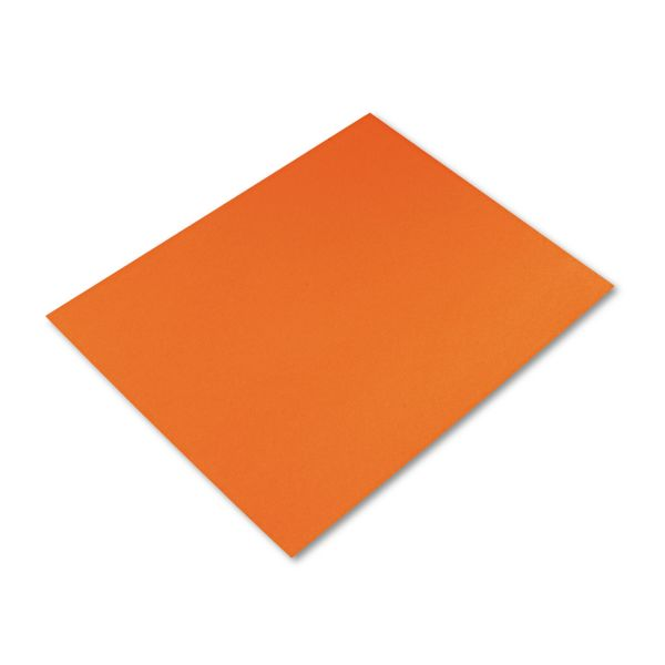 Pacon Peacock Four-Ply Railroad Board, 22 x 28, Orange, 25/Carton