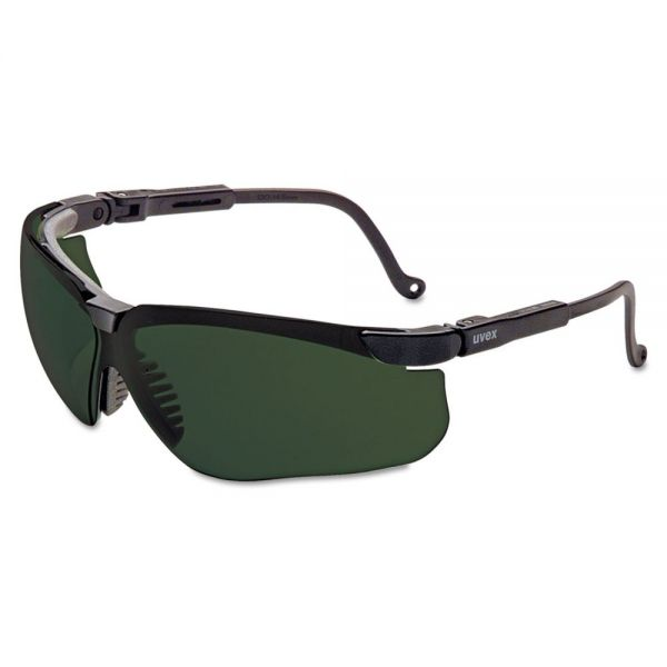 Uvex by Honeywell Genesis Safety Eyewear, Black Frame, Shade 5.0 Lens