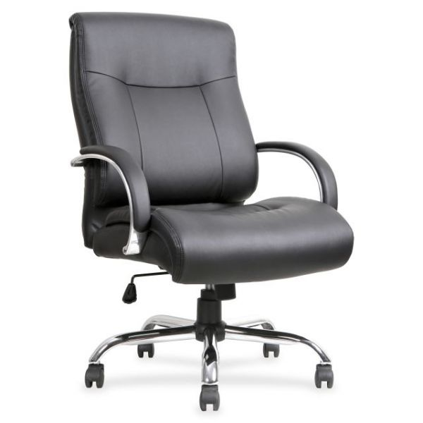 Lorell Leather Deluxe Big & Tall Office Chair