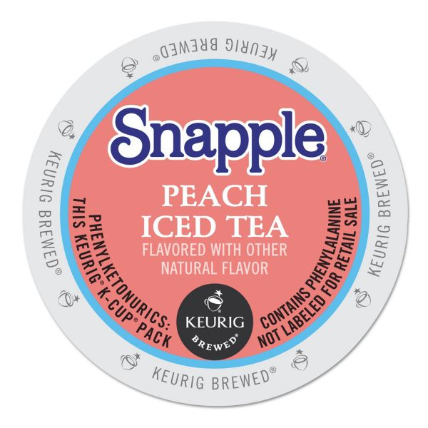 Snapple Peach Flavored Iced Tea K-Cups