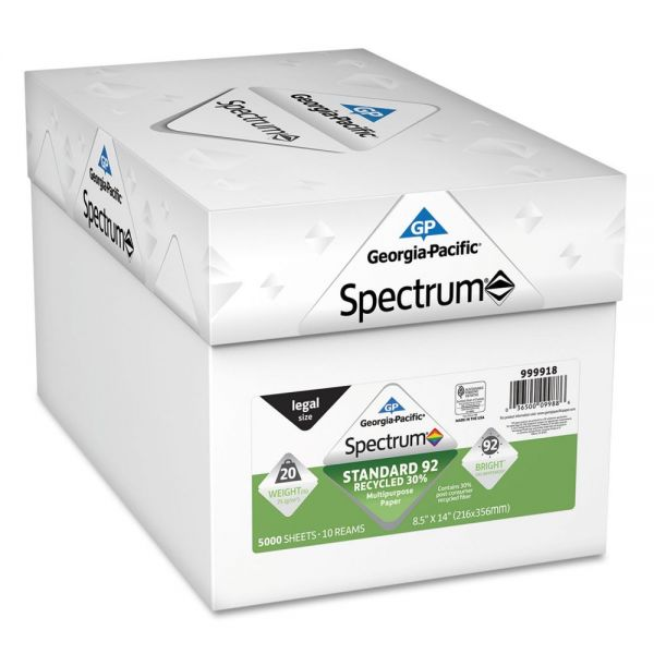 Georgia Pacific Spectrum Recycled White Multi-Use Paper