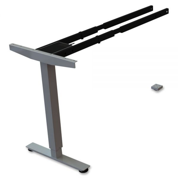 Lorell Sit/Stand Desk Silver Third-leg Add-on Kit
