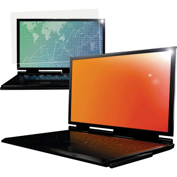 """3M GPF15.4W Gold Privacy Filter for Widescreen Laptop 15.4"""" Goldenrod"""