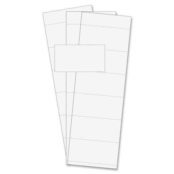 "MasterVision Data Card Replacement, 3""w x 1 3/4""h, White, 500/PK"