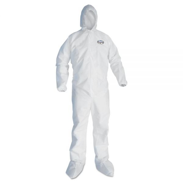 KleenGuard* A45 Prep & Paint Coveralls, White, 3X-Large, 25/Carton