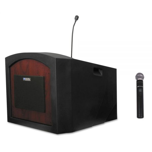 AmpliVox Pinnacle Tabletop Lectern, 26w x 23d x 20h, Mahogany
