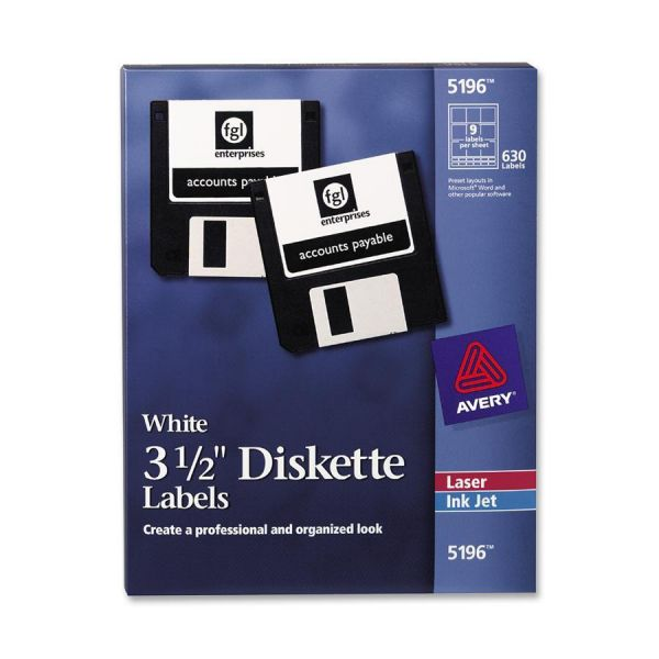 """Avery 3.5"""" Diskette Labels"""