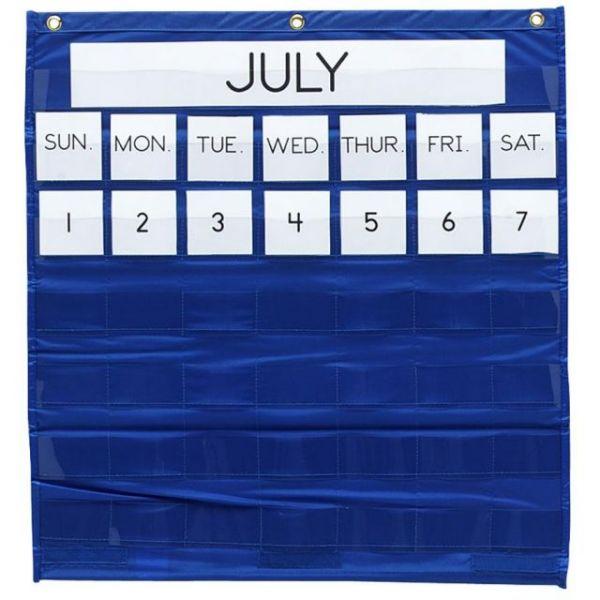 Monthly Calendar Bilingual Pocket Chart