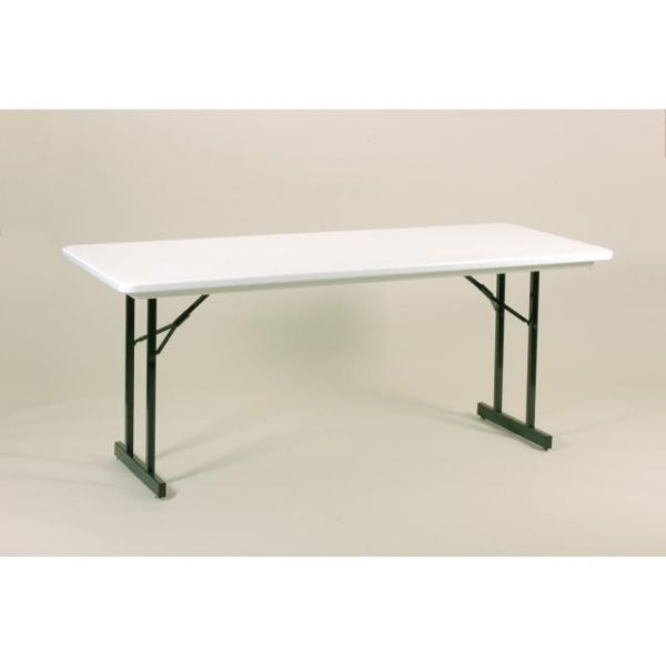 Correll Heavy Duty Blow-Molded T-Leg Folding Table