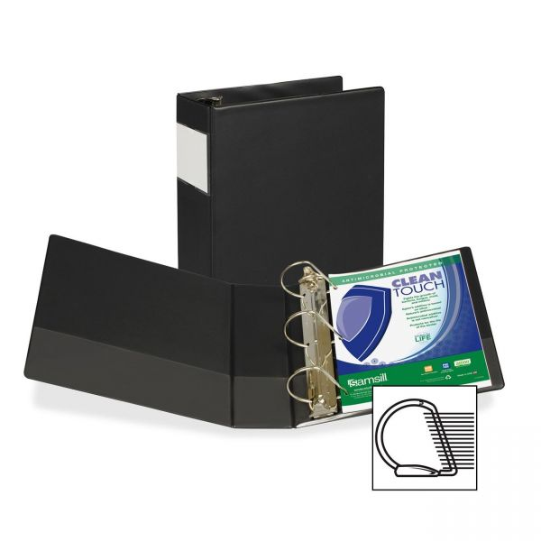 "Samsill Antimicrobial 4"" 3-Ring Binder"