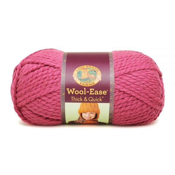 Lion Brand Wool-Ease Thick & Quick Yarn - Raspberry
