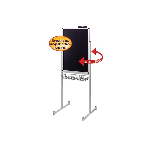 "Smead Justick 24"" x 36"" Promo Stand Double Side Black"
