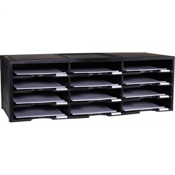 Storex 12-Compartment Literature Organizer/Document Sorter