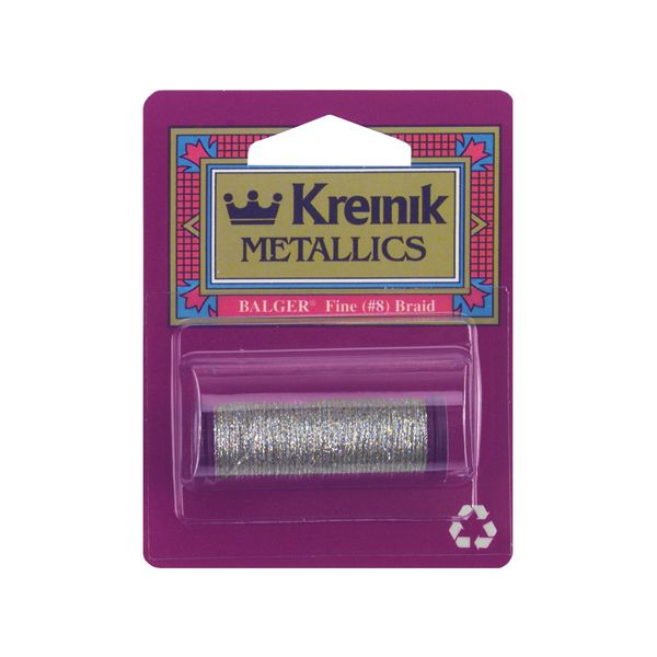 Kreinik Fine Metallic Braid #8 11yd