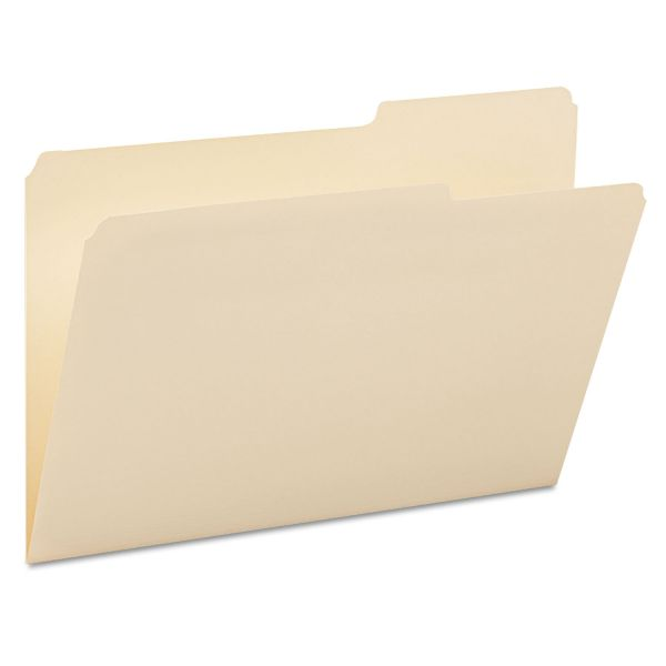 Smead Guide Height File Folders, 2/5 Cut Right Top Tab, Legal, Manila, 100/Box