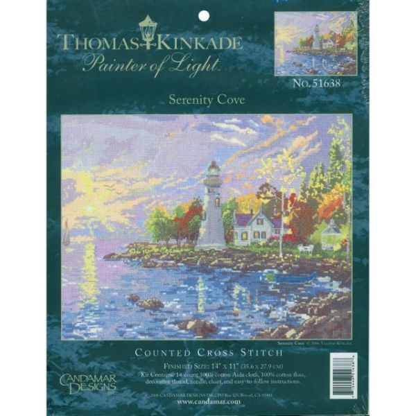 Thomas Kinkade Serenity Cove Counted Cross Stitch Kit