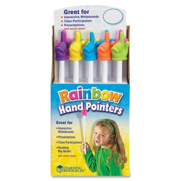 "Learning Resources 15"" Rainbow Hand Pointers"
