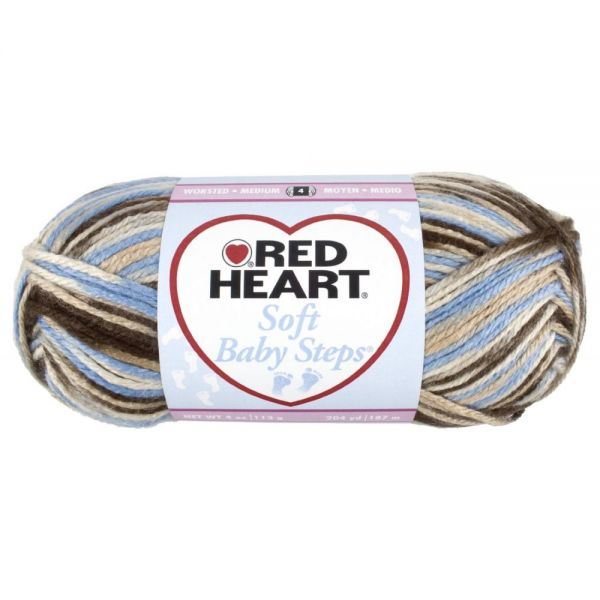 Red Heart Soft Baby Steps Yarn - Blue Earth