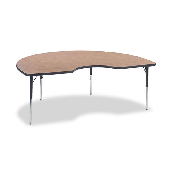 4000 Series Height Adjustable Kidney Shaped Activity Table