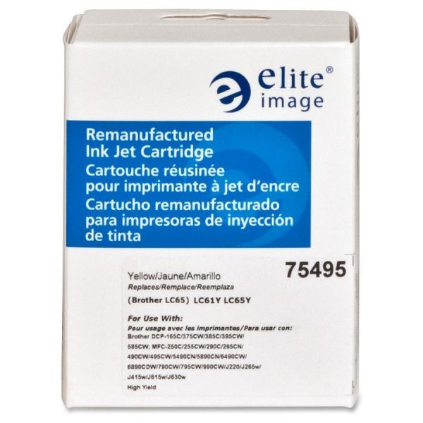 Elite Image Remanufactured Brother LC65HYY Ink Cartridge