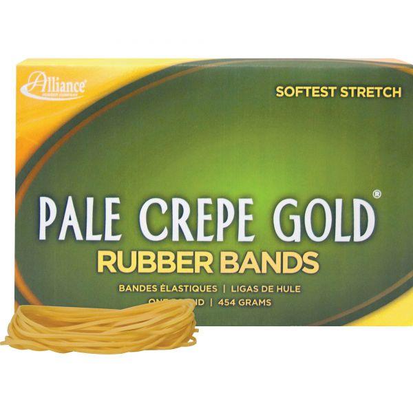 Pale Crepe Gold #19 Rubber Bands (1 lb)