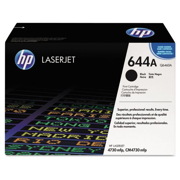 HP 644A, (Q6460A) Black Original LaserJet Toner Cartridge