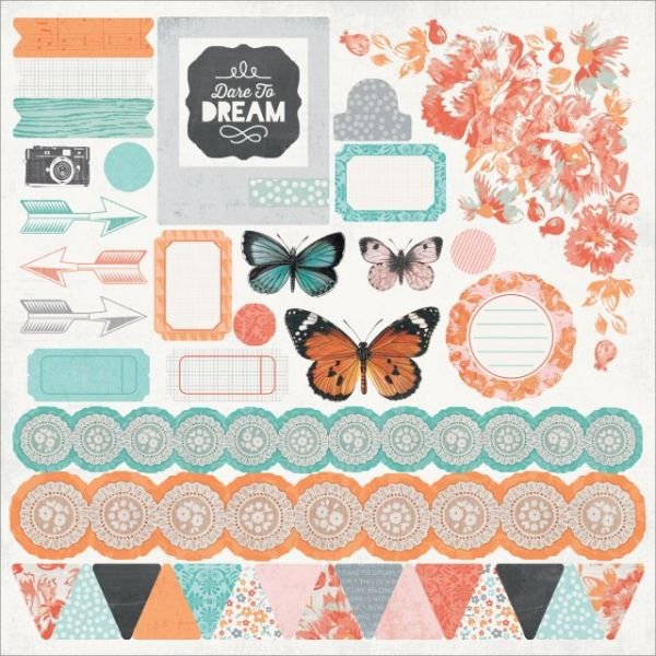 "Dream Big Cardstock Stickers 12""X12"""