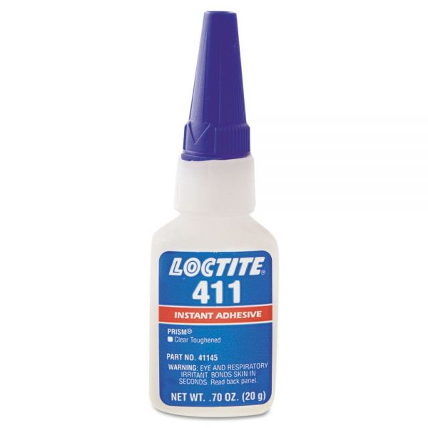 Loctite 411 Prism Instant Adhesive, Cyanoacrylate, Clear