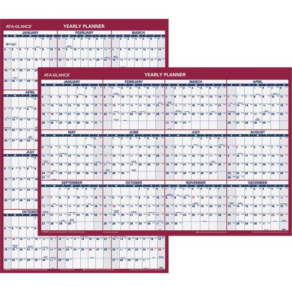 AT-A-GLANCE Vertical/Horizontal Wall Calendar, 24 x 36, 2019