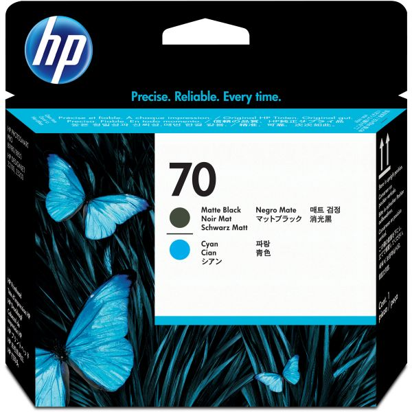 HP 70 Cyan/Matte Black Printhead (C9404A)