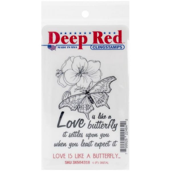 "Deep Red Cling Stamp 2""X3"""