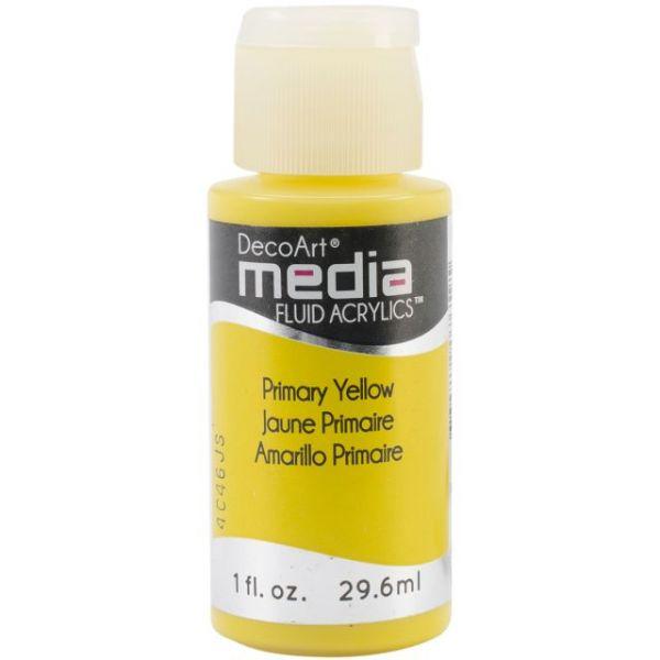 Deco Art Media Primary Yellow Fluid Acrylics