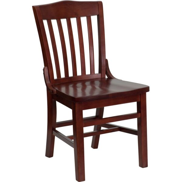 Flash Furniture School House Back Wooden Restaurant Chair