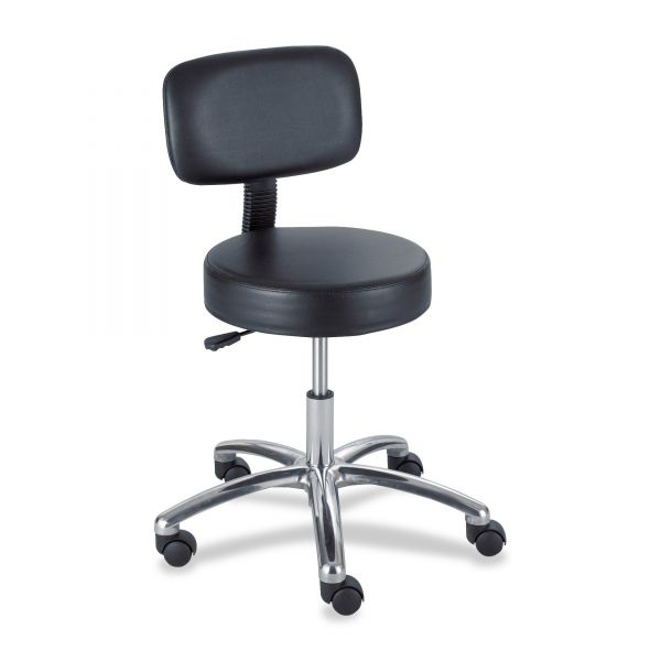 Safco Pneumatic Lab Stool With Back