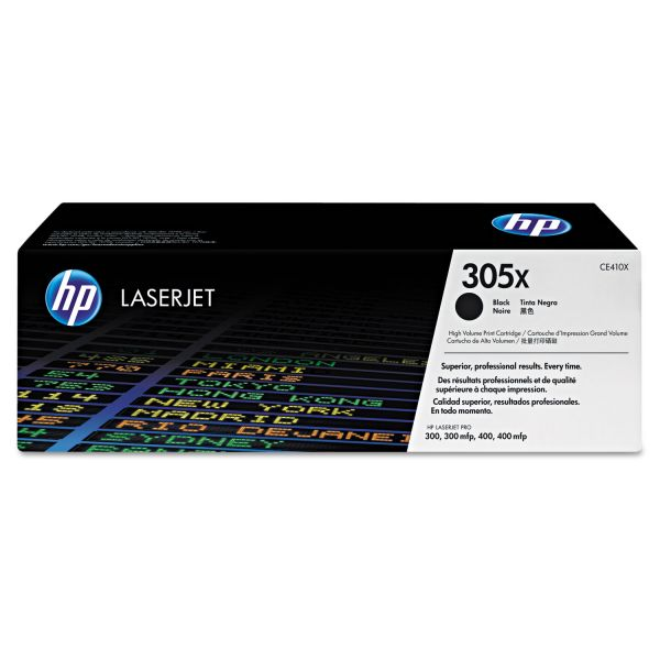 HP 305X Black High Yield Toner Cartridge (CE410X)